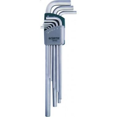 Zestaw 9 kluczy trzpieniowych 6-kątnych metrycznych ekstra długich