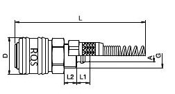Szybkozłącze do węża 10 mm