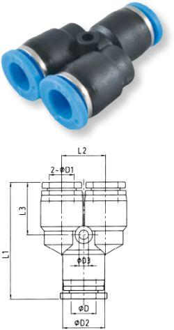 Trójnik redukcyjny typu Y - Rectus- złączka pneumatyczna