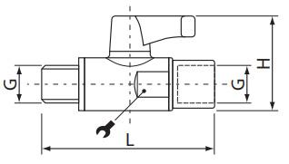 Zawory kulowe mikro z gwintem zewnętrzno wewnętrznym